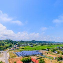 土地付き分譲型太陽光、設置イメージ画像空撮